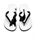 Bullterrier Silhouette Flip Flops