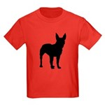 Christmas or Holiday Boxer Silhouette Kids Dark T-