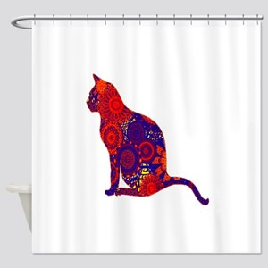 CAT DAZES ZU Shower Curtain