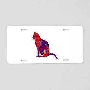 CAT DAZES ZU Aluminum License Plate