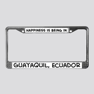 Happiness is Guayaquil License Plate Frame