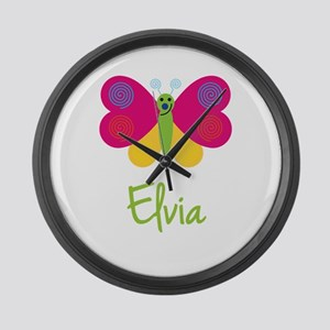 Elvia The Butterfly Large Wall Clock