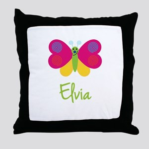 Elvia The Butterfly Throw Pillow