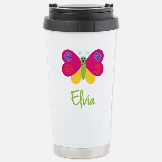 Elvia The Butterfly Stainless Steel Travel Mug