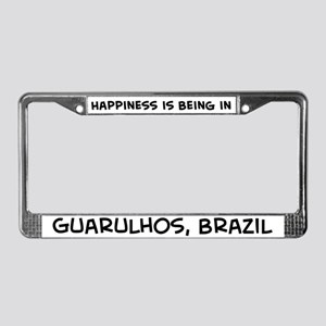 Happiness is Guarulhos License Plate Frame