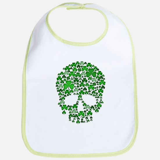 Shamrock Skull St Patricks Day Bib