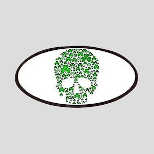 Shamrock Skull St Patricks Day Patches