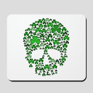 Shamrock Skull St Patricks Day Mousepad