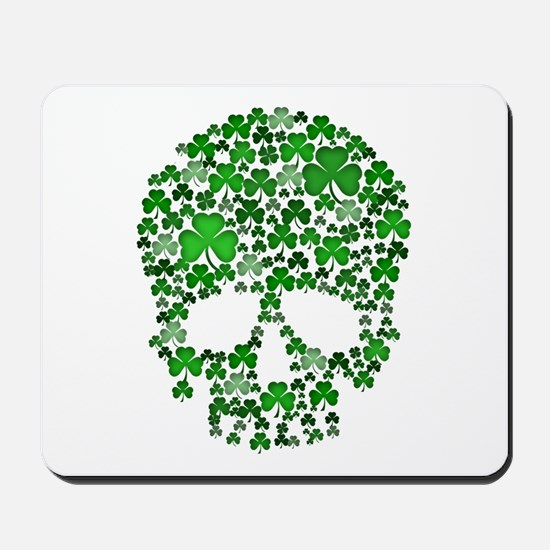 Shamrock Skull St Patricks Day Mousepad