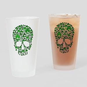 Shamrock Skull St Patricks Day Drinking Glass