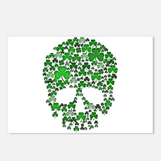 Shamrock Skull St Patricks Day Postcards (Package