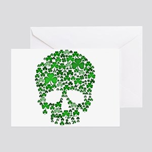 Shamrock Skull St Patricks Day Greeting Card