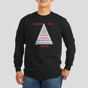 Honduran Food Pyramid Long Sleeve Dark T-Shirt