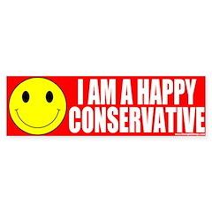 Happy Conservative Bumper Bumper Sticker