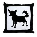 Chihuahua Silhouette Throw Pillow