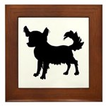 Chihuahua Silhouette Framed Tile