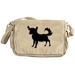 Chihuahua Silhouette Messenger Bag