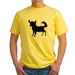 Chihuahua Silhouette Yellow T-Shirt