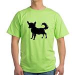 Chihuahua Silhouette Green T-Shirt