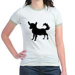Chihuahua Silhouette Jr. Ringer T-Shirt