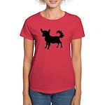 Chihuahua Silhouette Women's Dark T-Shirt