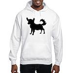 Chihuahua Silhouette Hooded Sweatshirt
