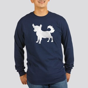 Chihuahua Silhouette Long Sleeve Dark T-Shirt