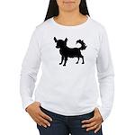 Chihuahua Silhouette Women's Long Sleeve T-Shirt