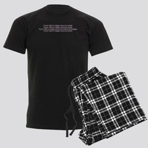 If your willy is a biggie Men's Dark Pajamas