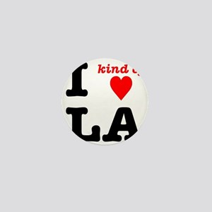 i kind of heart LA Mini Button