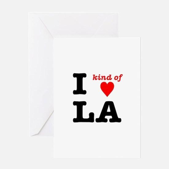 i kind of heart LA Greeting Card