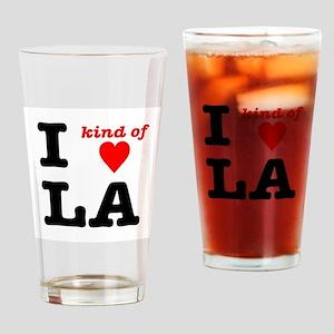 i kind of heart LA Drinking Glass