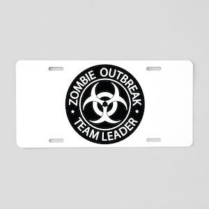 ZO Team Leader Black Aluminum License Plate