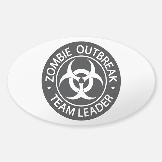 ZO Team Leader Black Sticker (Oval)