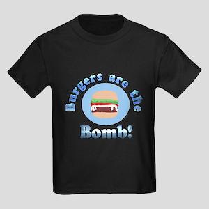 Burgers are the Bomb Kids Dark T-Shirt