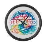 Grand Lake Old Circle Large Wall Clock