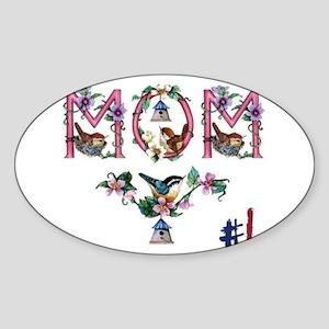 #1 MOM Sticker (Oval)