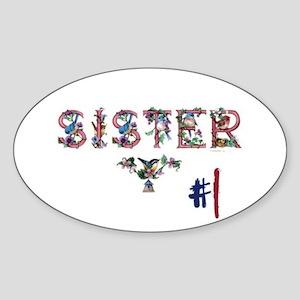 #1 Sister Sticker (Oval)