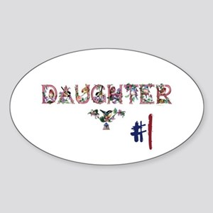 #1 Daughter Sticker (Oval)