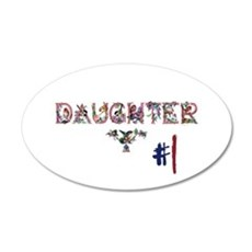 #1 Daughter 22x14 Oval Wall Peel