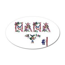 #1 NANA 22x14 Oval Wall Peel