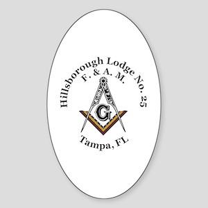 Hillsborough Lodge No. 25 Sticker (Oval)