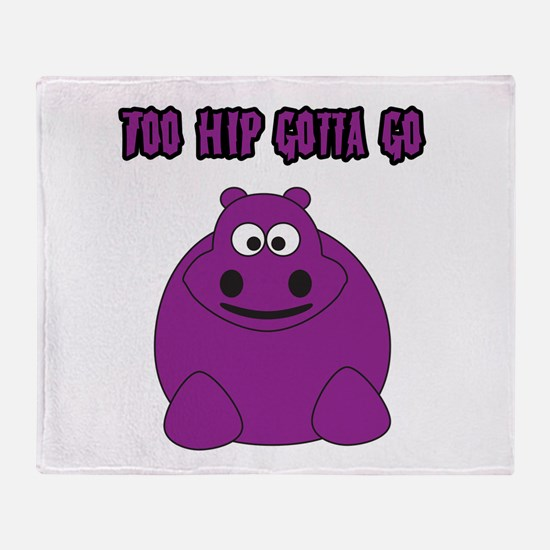 Too Hippo Throw Blanket