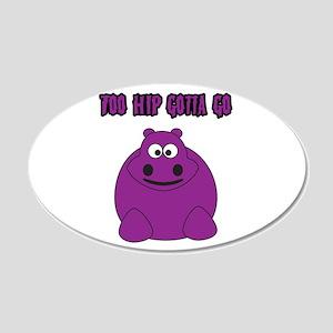 Too Hippo 22x14 Oval Wall Peel