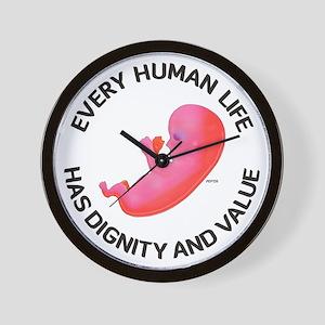 Every Human Life Wall Clock