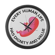 Every Human Life Large Wall Clock