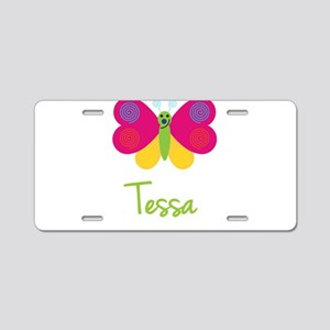 Tessa The Butterfly Aluminum License Plate