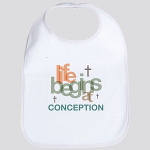 Life Begins At Conception Bib