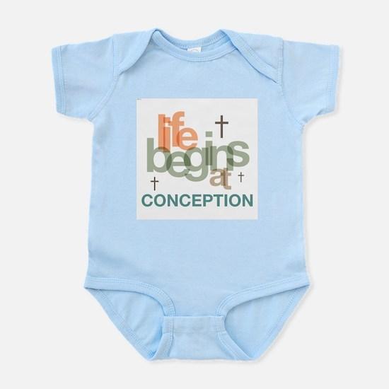 Life Begins At Conception Infant Bodysuit