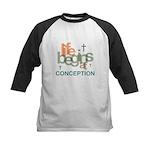 Life Begins At Conception Kids Baseball Jersey